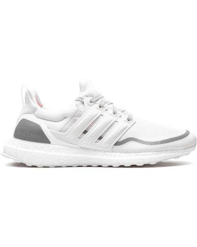 Biały top koronkowy sznurowany Adidas