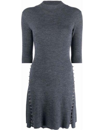 Платье мини короткое - серое Maje