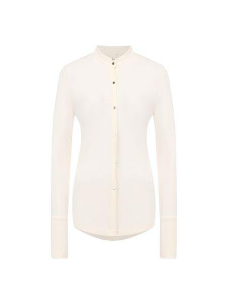 Белая рубашка из вискозы Petar Petrov