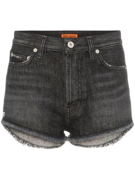 Джинсовые шорты с карманами на пуговицах Heron Preston