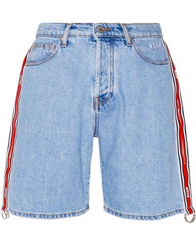 Джинсовые шорты с завышенной талией миди Msgm