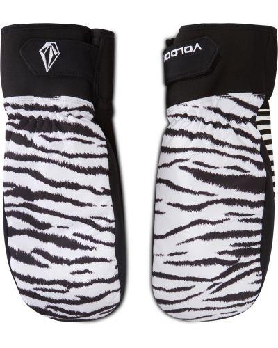Białe rękawiczki z nylonu Volcom