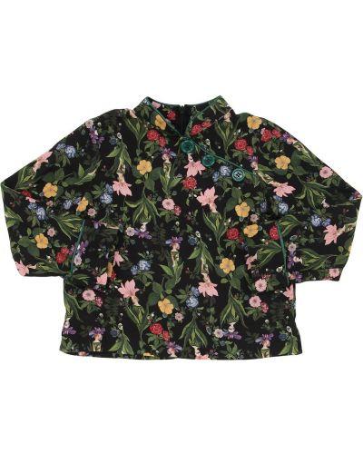 Классическая рубашка асимметричная с принтом Vivetta