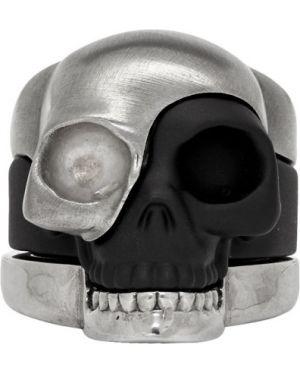 Кольцо черный серебряный Alexander Mcqueen