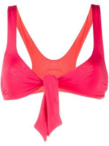 Пляжные розовые бикини металлические с завязками Stella Mccartney