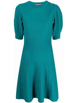 Платье мини короткое - зеленое Alberta Ferretti