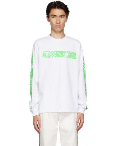Белая рубашка с воротником с манжетами с длинными рукавами Rassvet
