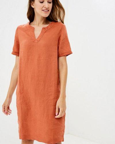 Оранжевое платье прямое Iwie