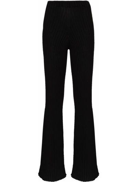Czarne spodnie z wysokim stanem bawełniane Baserange