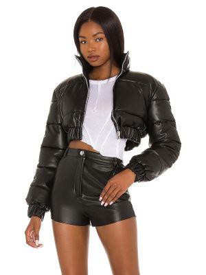 Кожаная куртка на молнии - черная H:ours