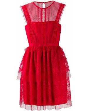 Платье с кружевными рукавами приталенное Three Floor