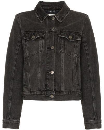 Черная джинсовая куртка с манжетами на пуговицах Ksubi