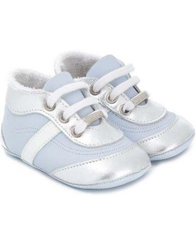 Niebieskie sneakersy skorzane sznurowane Baby Dior