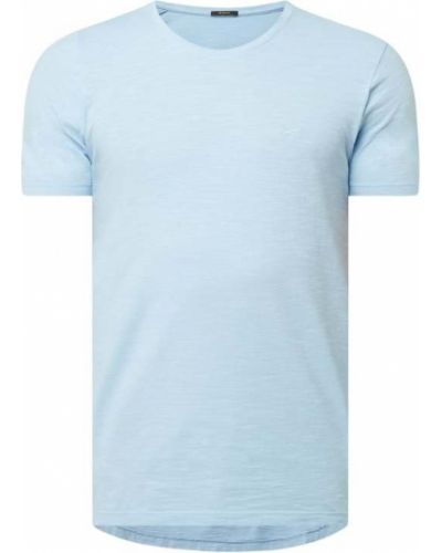 Niebieski t-shirt bawełniany Denham