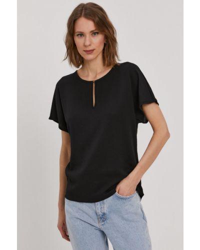 Czarna bluzka z wiskozy na co dzień Vero Moda