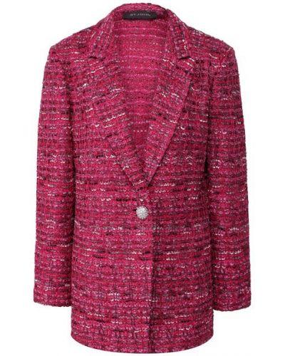 Облегающий розовый пиджак твидовый St. John