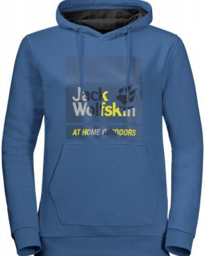 Синяя теплая кофта Jack Wolfskin