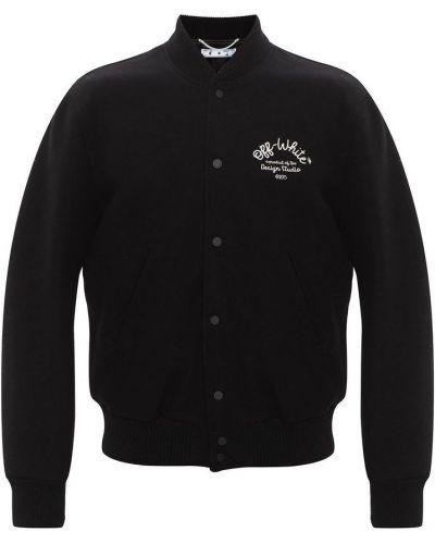 Czarna kurtka wełniana Off-white
