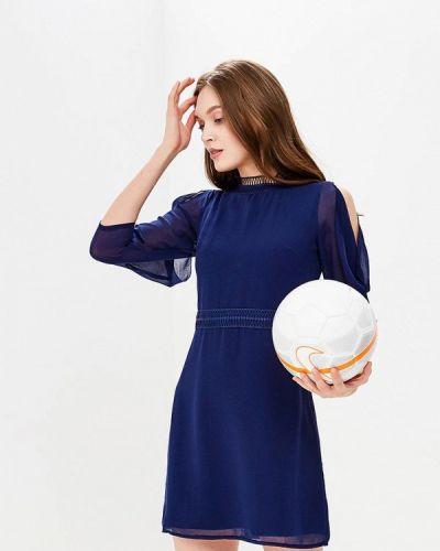 Синее коктейльное платье Little Mistress