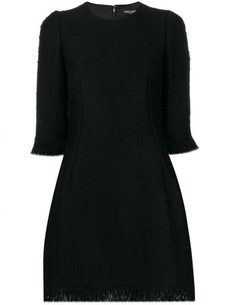 Платье миди с бахромой на молнии Dolce & Gabbana