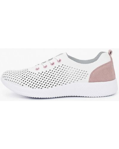 Кожаные белые кроссовки Francesco Donni
