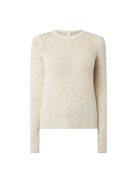 Prążkowany biały z kaszmiru sweter Pennyblack