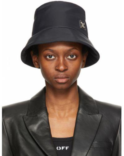 Кожаная черная шапка Off-white