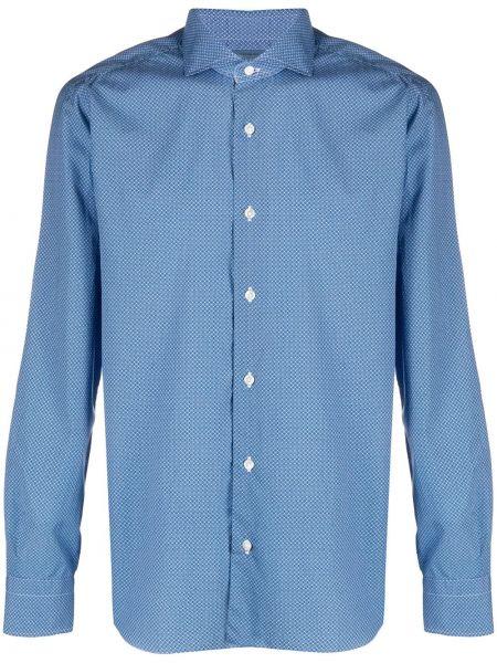 Koszula z długim rękawem klasyczna niebieski Barba