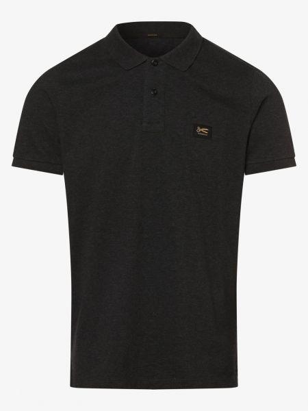 Prążkowany szary t-shirt Denham
