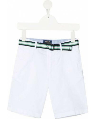 Białe bermudy Ralph Lauren