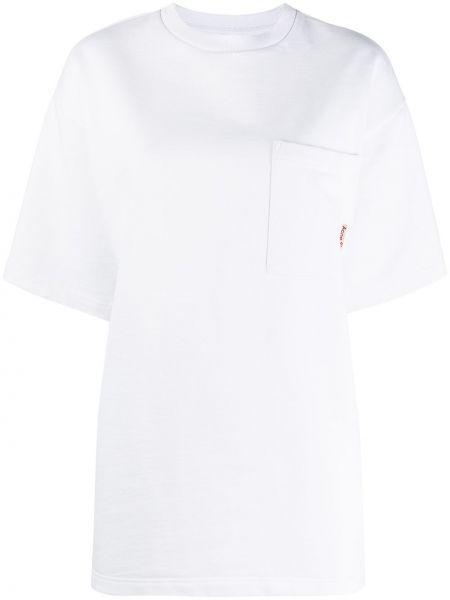 Трикотажная прямая белая футболка Acne Studios