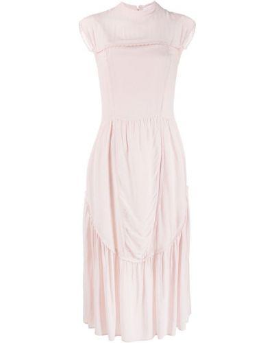 Платье миди розовое с вырезом See By Chloé