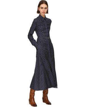 Платье макси в горошек на пуговицах Gabriela Hearst