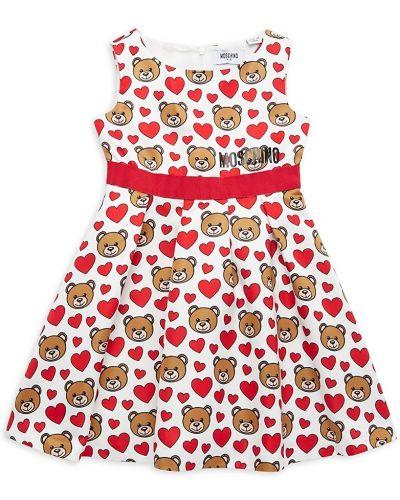 Хлопковое платье без рукавов с подкладкой Moschino