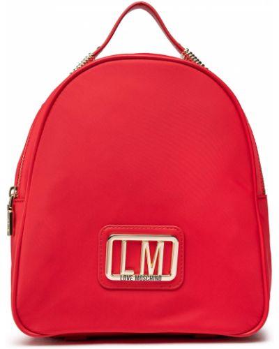 Plecak - czerwony Love Moschino