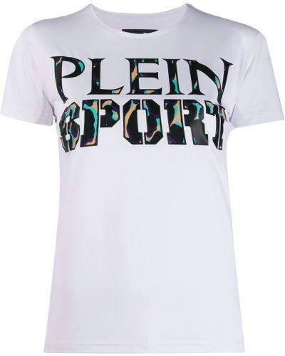 Прямая рубашка с лебяжьим пухом Plein Sport