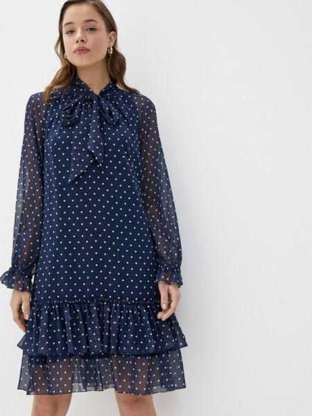 Платье прямое синее Vera Moni