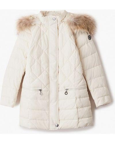 Свободная бежевая теплая куртка Finn Flare