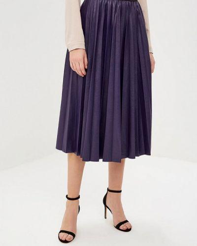 Плиссированная юбка итальянский фиолетовый Rinascimento