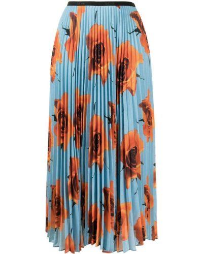 Синяя с завышенной талией плиссированная юбка Paul Smith