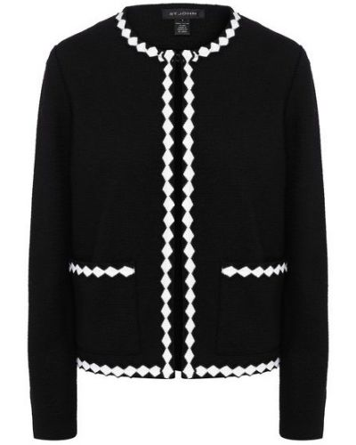 Шерстяной белый пиджак St. John