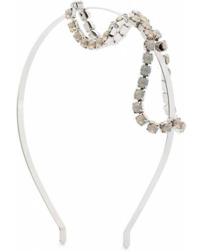 Серебряный ободок металлический с камнями Gigi Burris Millinery