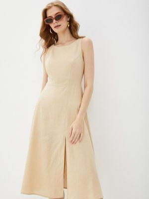 Бежевое весеннее платье Lorani