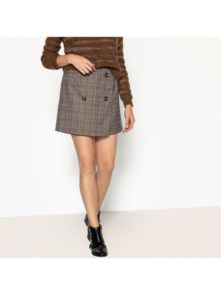 Прямая юбка мини с рисунком с рукавом 3/4 с подкладкой See U Soon