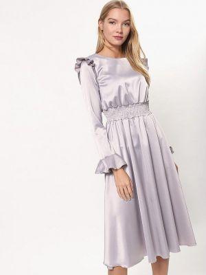 Платье серое осеннее Tutto Bene