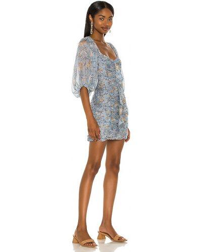 Niebieska sukienka w paski Minkpink