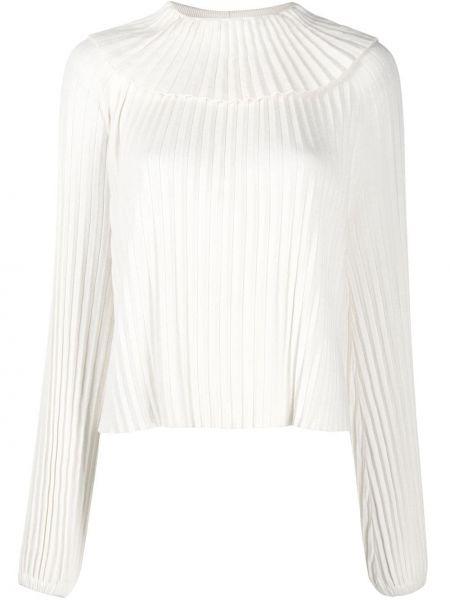 Шелковая белая блузка с вырезом See By Chloé