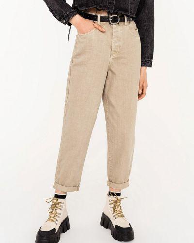 Повседневные бежевые брюки Befree