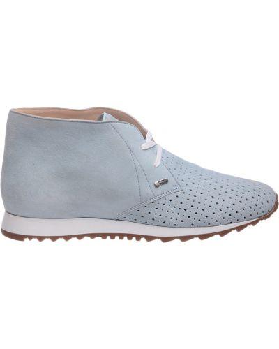 Кожаные ботинки на каблуке замшевые Pakerson