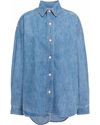 Niebieska koszula jeansowa bawełniana zapinane na guziki Rag & Bone